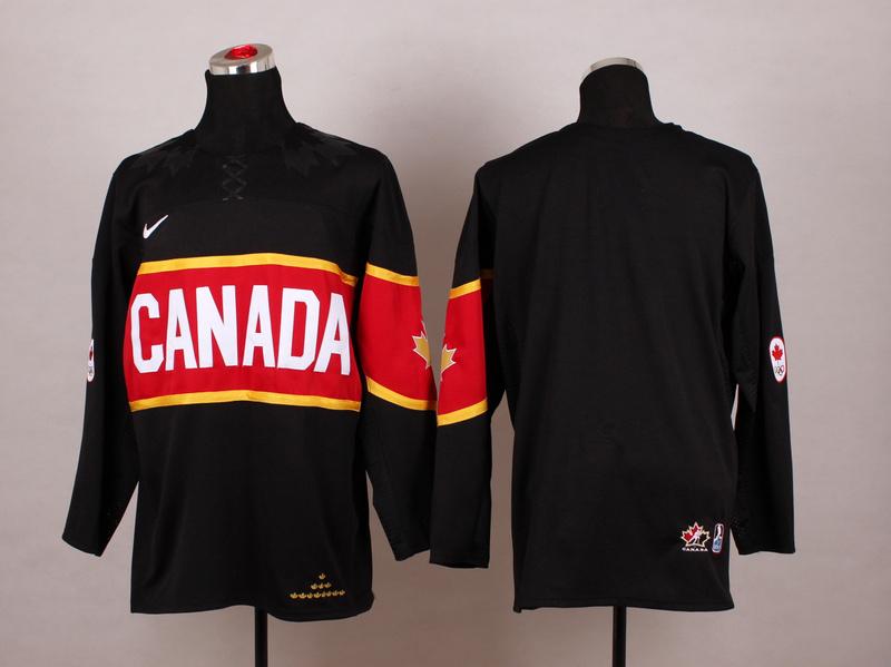 Canada Blank Black 2014 Olympics Jerseys