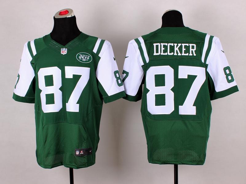 Nike Jets 87 Decker Green Elite Jersey