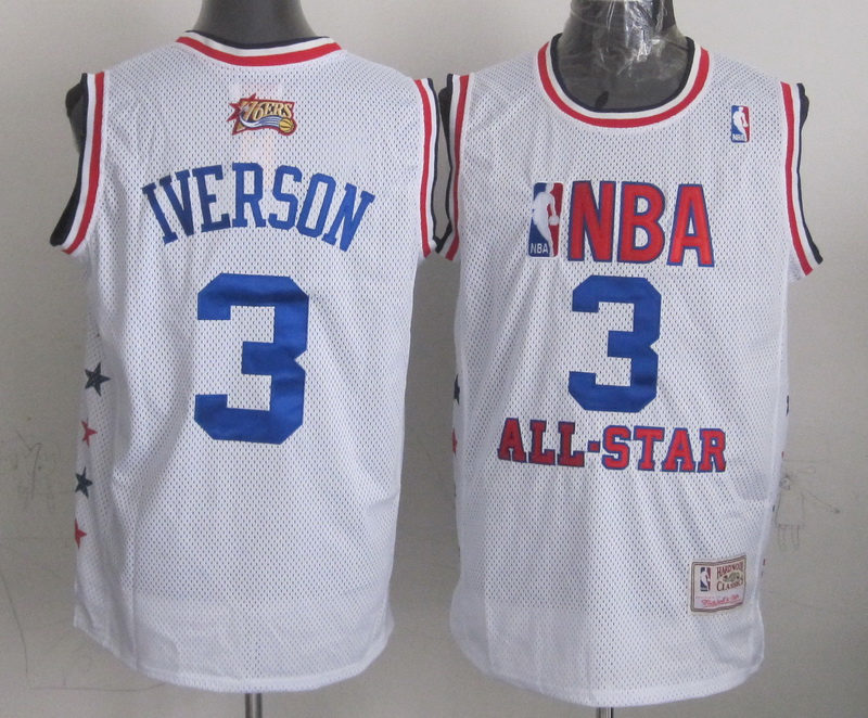 2003 All Star 3 Iverson White Hardwood Classics Jersey