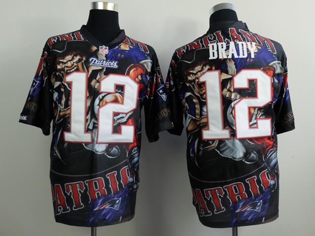 Nike Patriots 12 Brady Furious Elite Jerseys