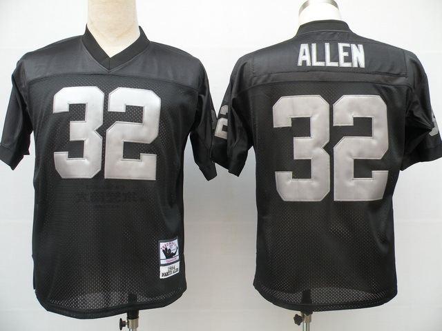 Raiders 32 Allen Black M&N Jersey