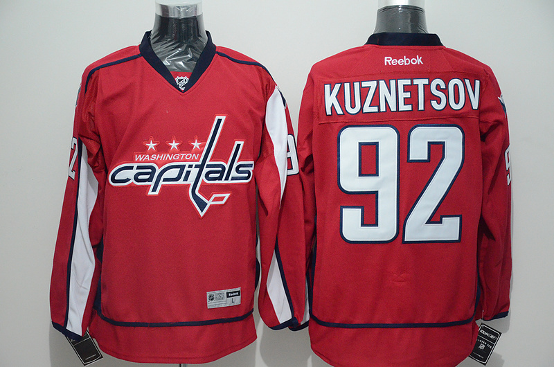 Capitals 92 Evgeny Kuznetsov Red Reebok Jersey