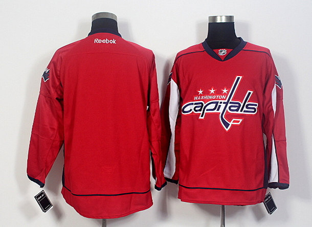 Capitals Blank Red Reebok Jersey
