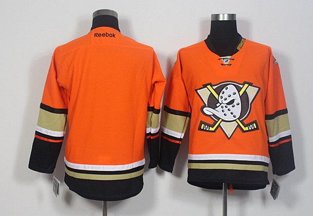 Ducks Blank Orange Reebok Jersey