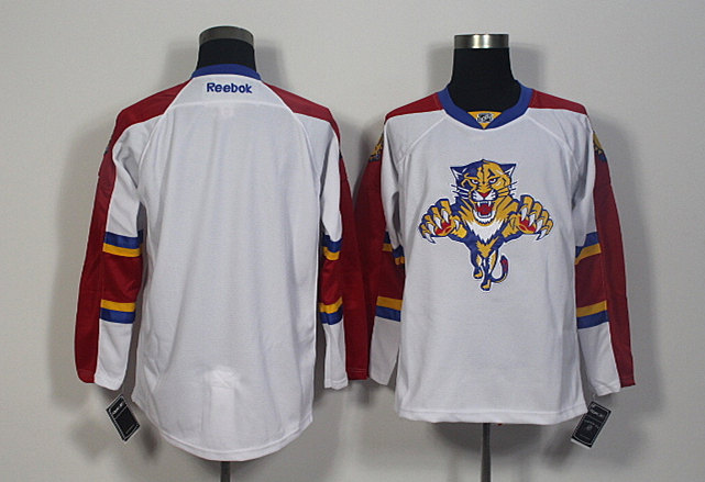 Panthers Blank White Reebok Jersey