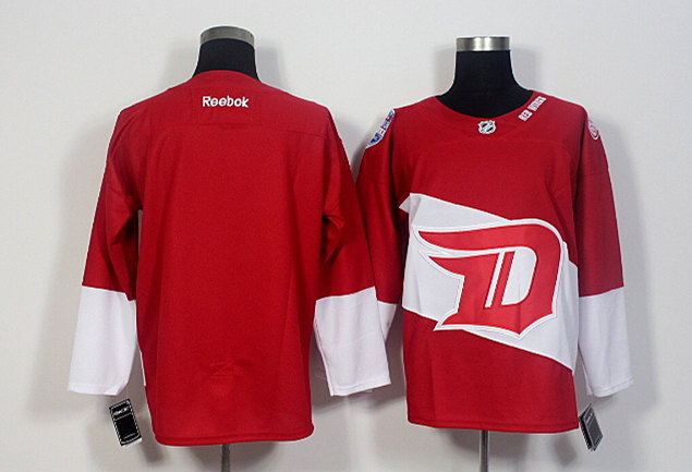 Red Wings Blank Red 2016 Stadium Series Reebok Jersey