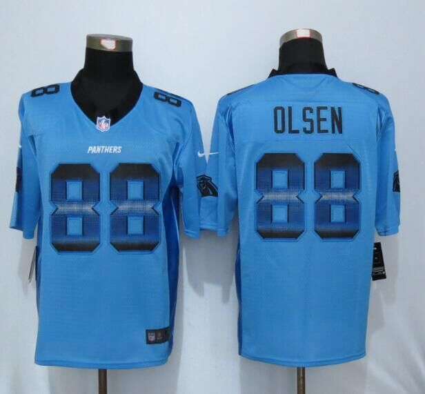 Nike Panthers 28 Greg Olsen Blue Pro Line Fashion Strobe Jersey