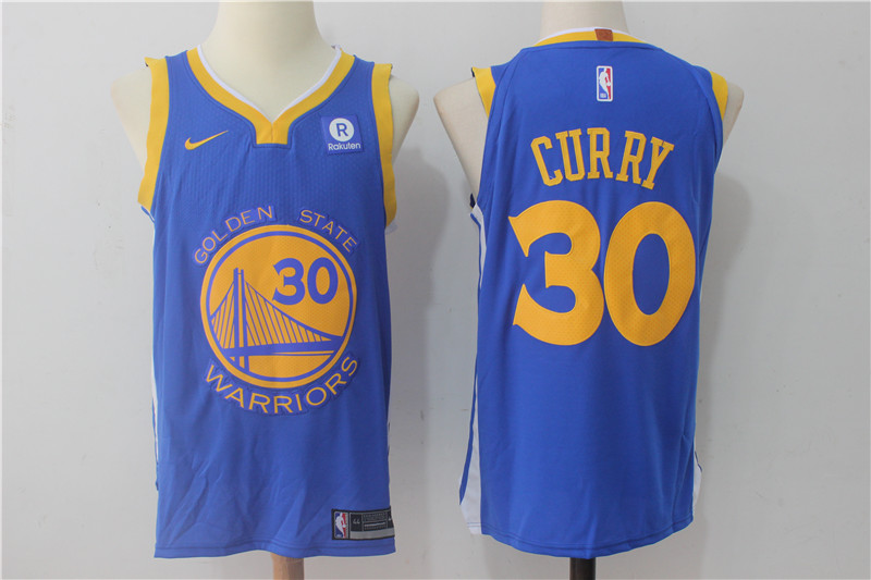 Warriors 30 Stephen Curry Blue Nike Authentic Jersey