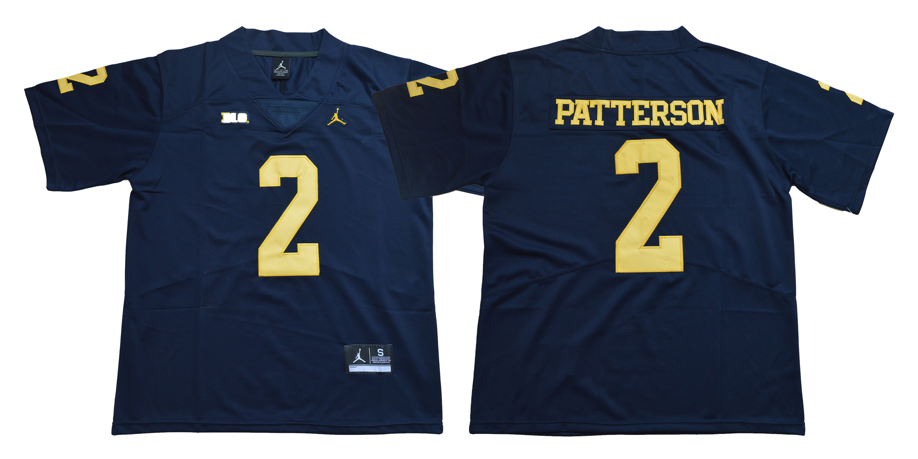 Michigan Wolverines 2 Shea Patterson Navy College Football Jersey