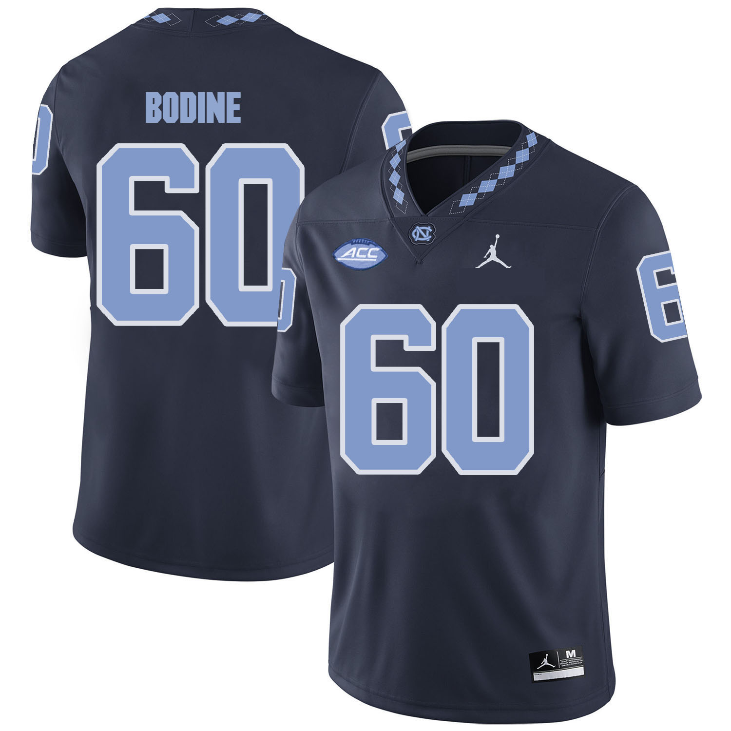North Carolina Tar Heels 60 Russell Bodine Black College Football Jersey
