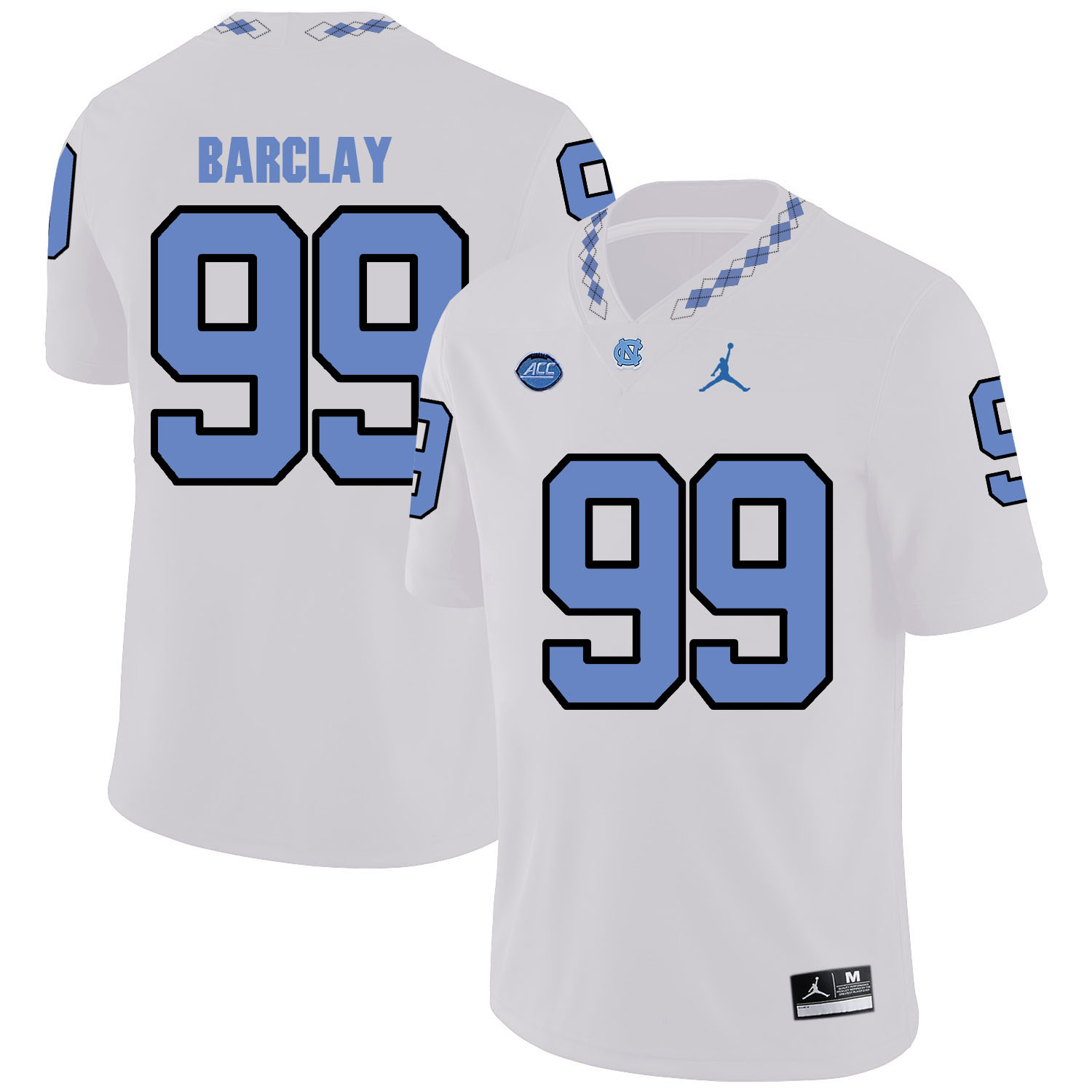 North Carolina Tar Heels 99 George Barclay White College Football Jersey