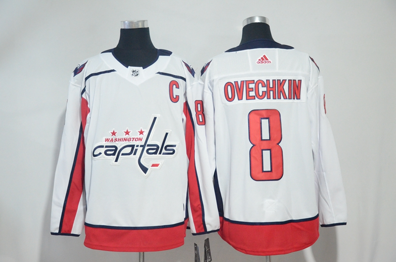 Capitals 8 Alexander Ovechkin White Adidas Jersey