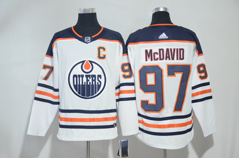 Oilers 97 Connor McDavid White Adidas Jersey