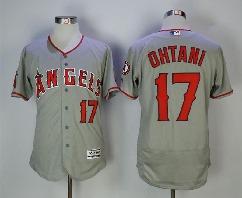 Angels 17 Shohei Ohtani Gray Flexbase Jersey