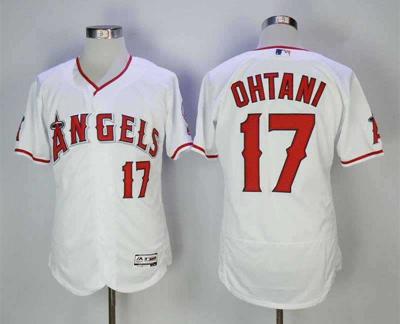 Angels 17 Shohei Ohtani White Flexbase Jersey