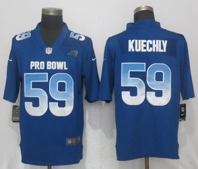 Nike NFC Panthers 59 Luke Kuechly Royal 2018 Pro Bowl Game Jersey