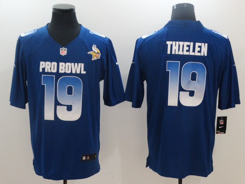 Nike NFC Vikings 19 Adam Thielen Royal 2018 Pro Bowl Game Jersey