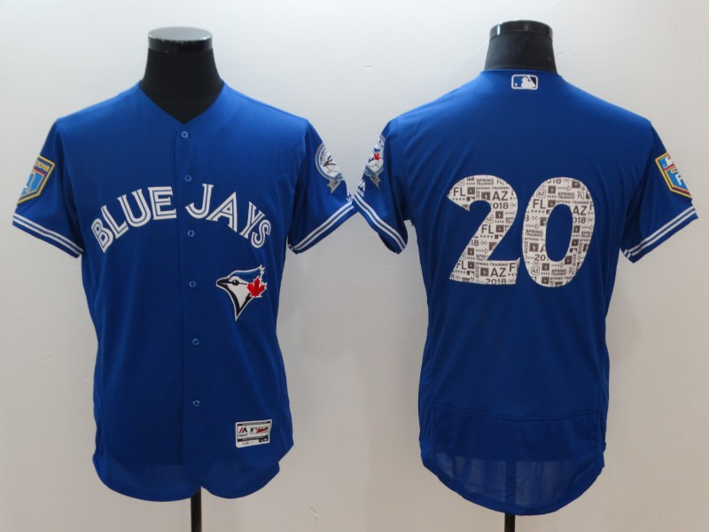 Blue Jays 20 Josh Donaldson Royal 2018 Spring Training Flexbase Jersey
