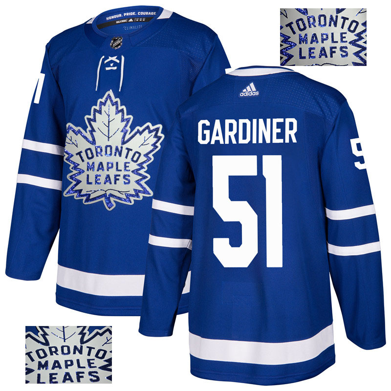 Maple Leafs 51 Jake Gardiner Blue Glittery Edition Adidas Jersey