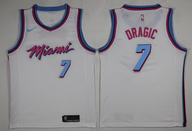 Heat 7 Goran Dragic White City Edition Nike Swingman Jersey