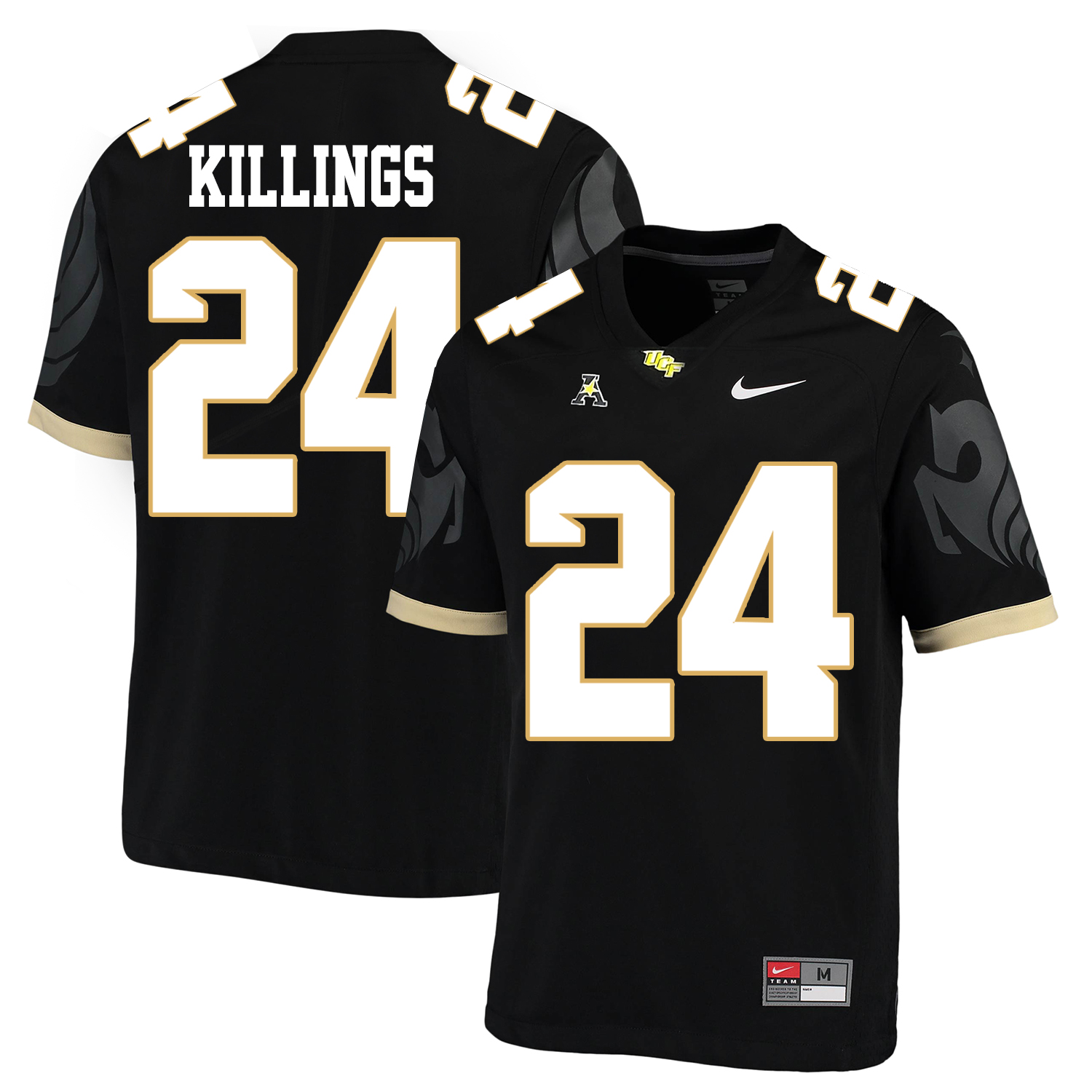 UCF Knights 24 D.J. Killings Black College Football Jersey