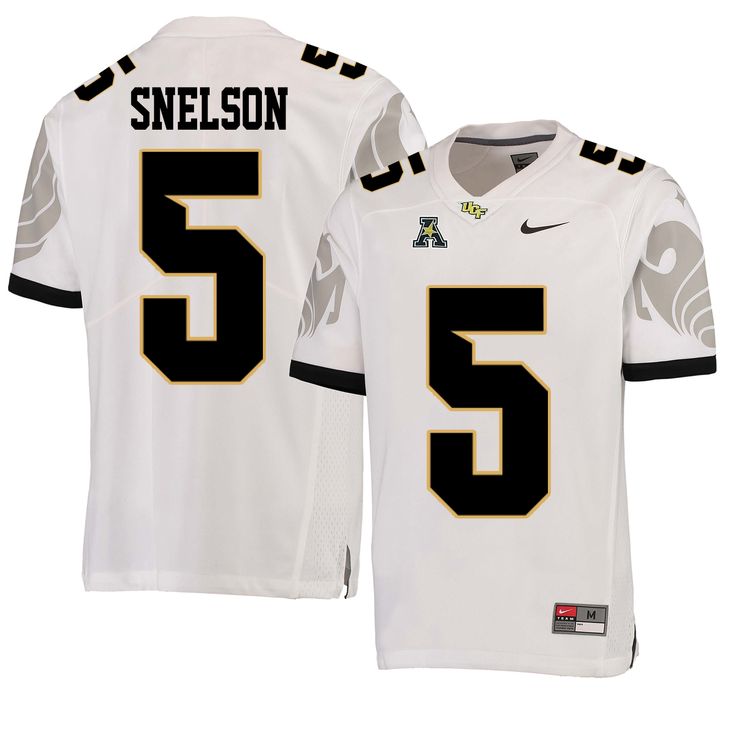 UCF Knights 5 Dredrick Snelson White College Football Jersey