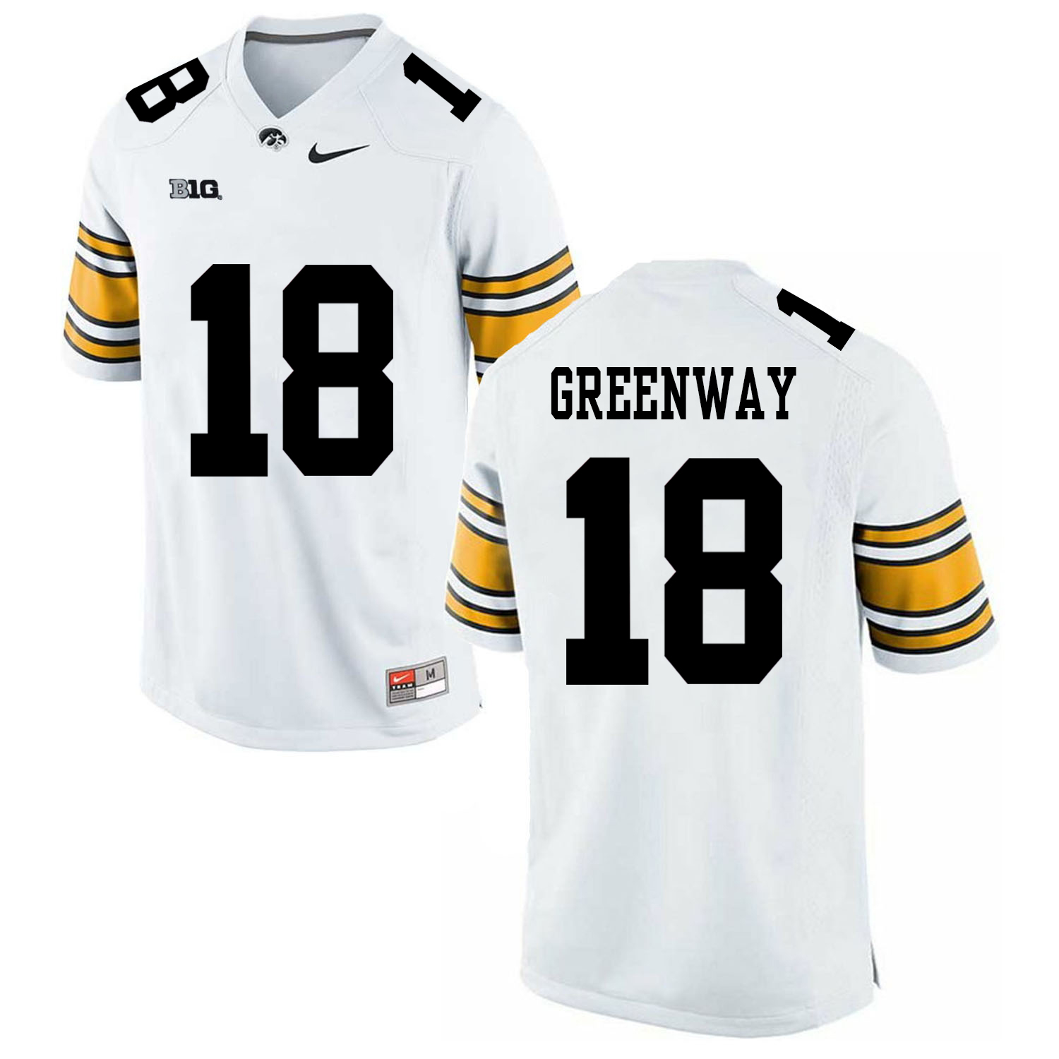 Iowa Hawkeyes 18 Chad Greenway WhiteBlack College Football Jersey