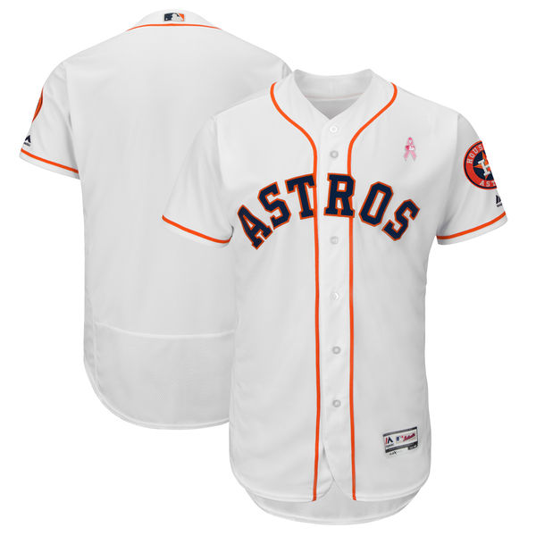 Astros Blank White 2018 Mother's Day Flexbase Jersey