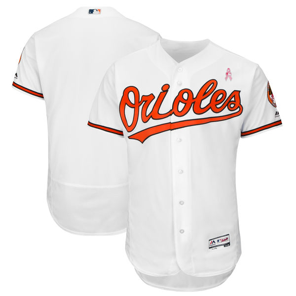 Orioles Blank White 2018 Mother's Day Flexbase Jersey