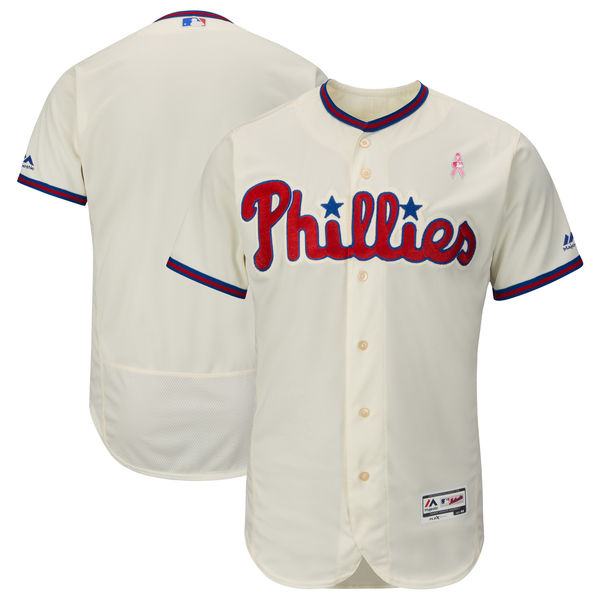 Phillies Blank Cream 2018 Mother's Day Flexbase Jersey