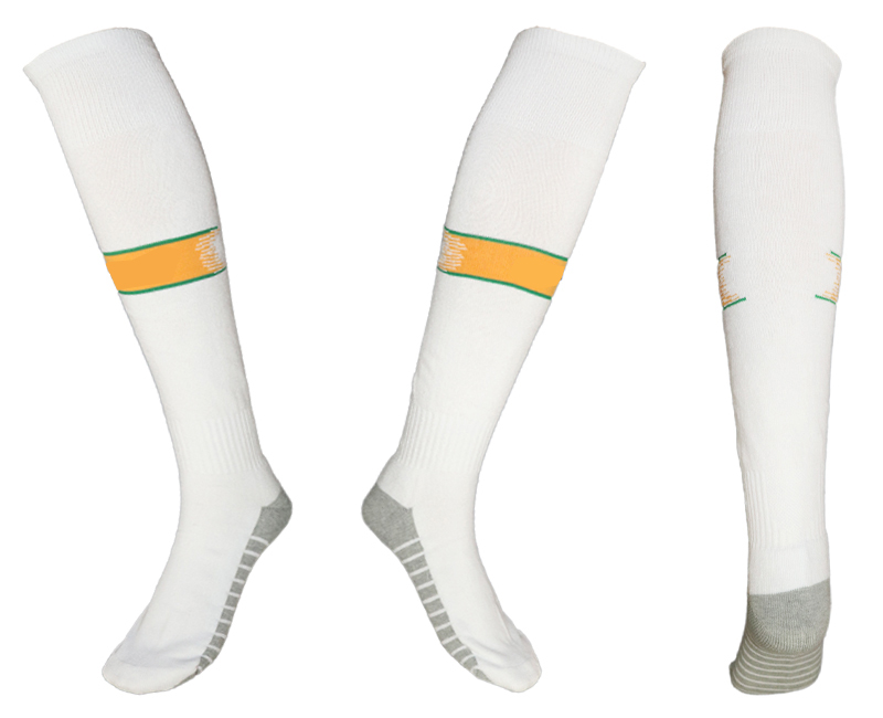 Brazil White Youth Thailand Soccer Socks
