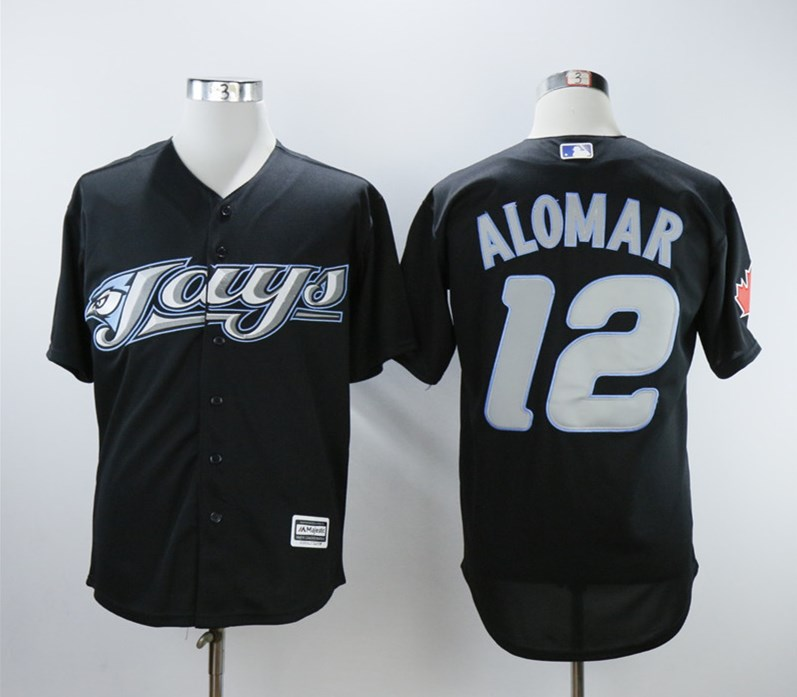 Blue Jays 12 Roberto Alomar Black 2008 Turn Back The Clock Jersey