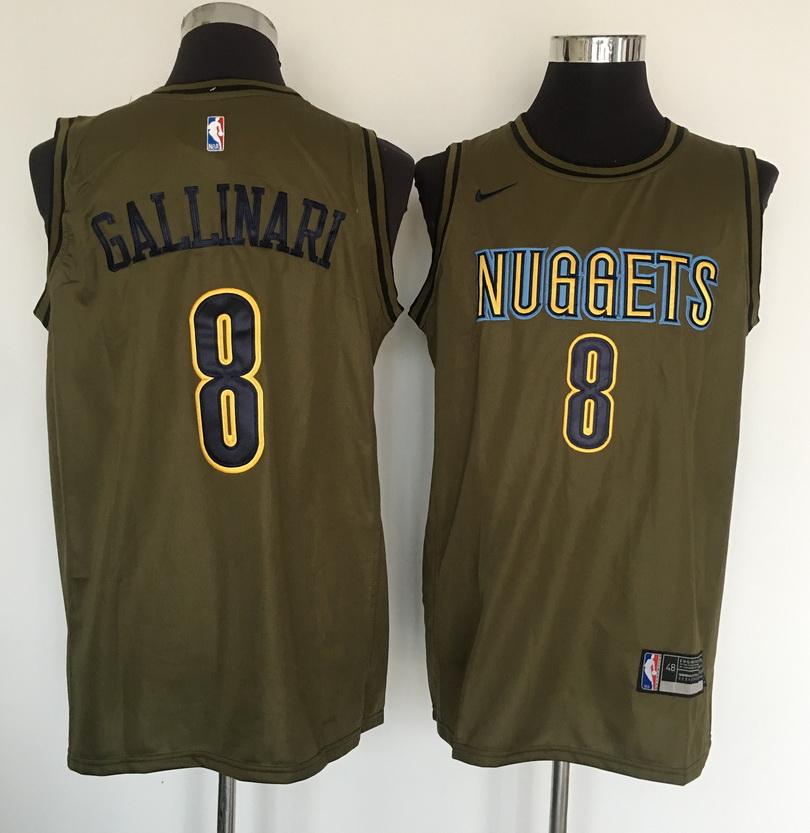 Nuggets 8 Danilo Gallinari Olive Nike Swingman Jersey