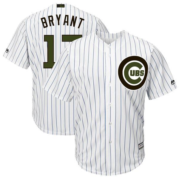 Cubs 17 Kris Bryant White 2018 Memorial Day Cool Base Jersey