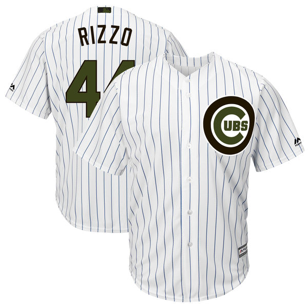 Cubs 44 Anthony Rizzo White 2018 Memorial Day Cool Base Jersey