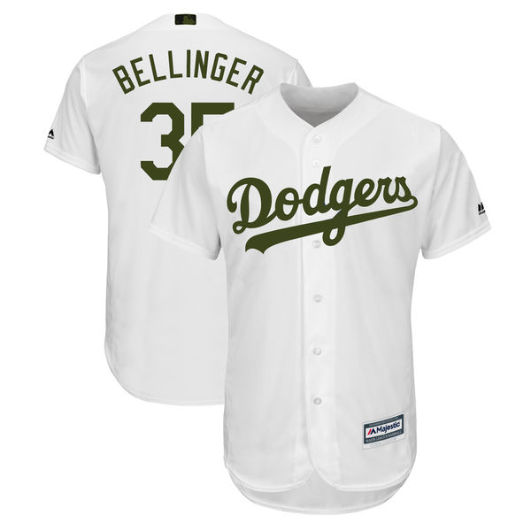 Dodgers 35 Cody Bellinger White 2018 Memorial Day Cool Base Jersey