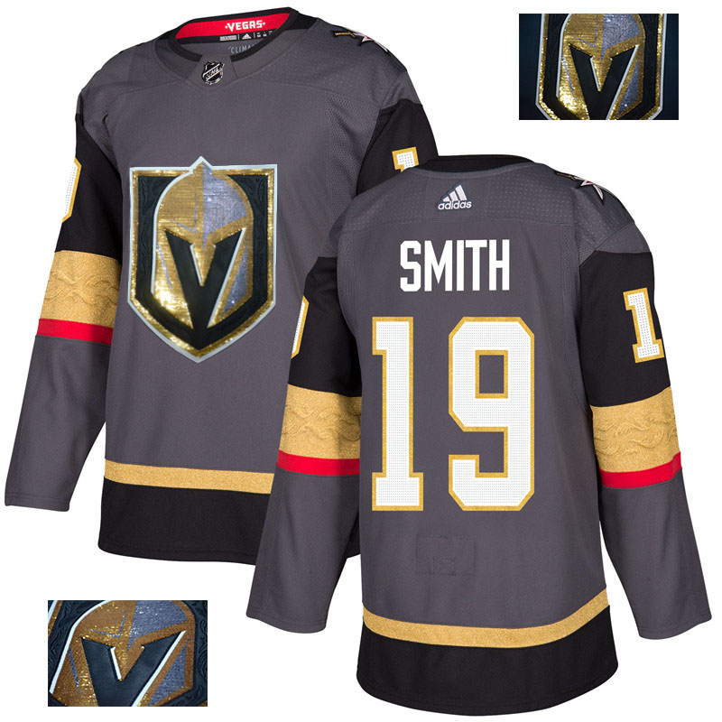 Vegas Golden Knights 19 Reilly Smith Gray With Special Glittery Logo Adidas Jersey