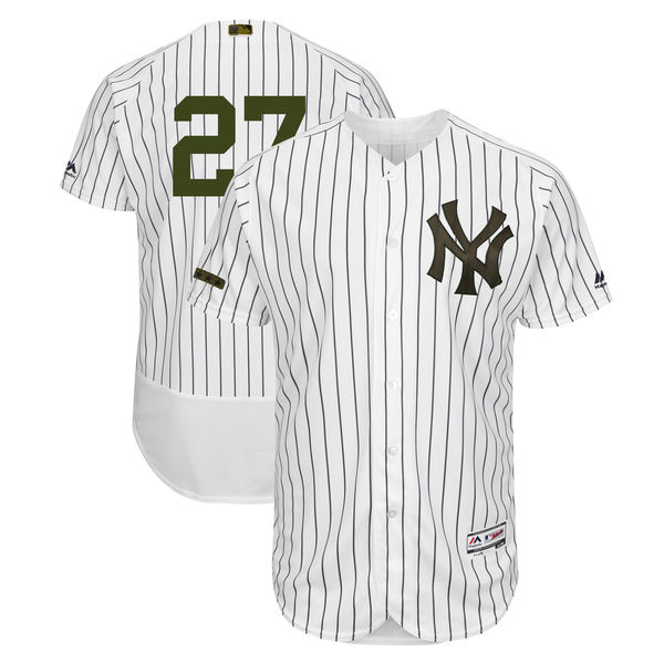 Yankees 27 Giancarlo Stanton White 2018 Memorial Day Flexbase Jersey
