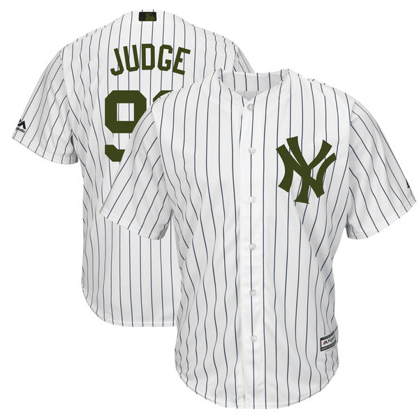 Yankees 99 Aaron Judge White 2018 Memorial Day Cool Base Jersey