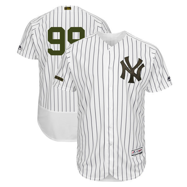 Yankees 99 Aaron Judge White 2018 Memorial Day Flexbase Jersey