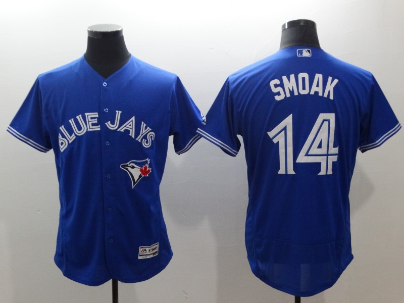 Blue Jays 14 Justin Smoak Royal Flexbase Jersey