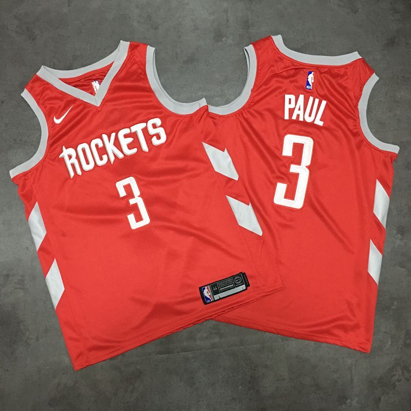 Rockets 3 Chris Paul Red Nike Swingman Jersey