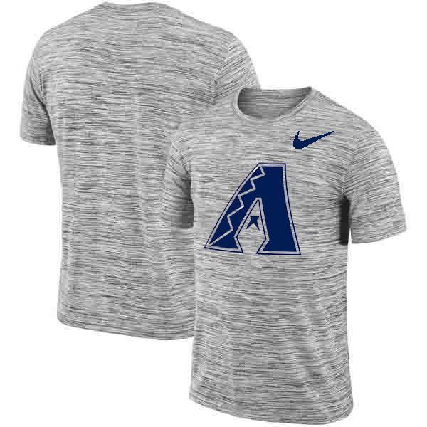 Arizona Diamondbacks Nike Heathered Black Sideline Legend Velocity Travel Performance T-Shirt