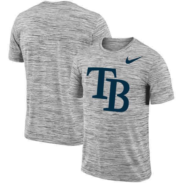 Tampa Bay Rays Nike Heathered Black Sideline Legend Velocity Travel Performance T-Shirt