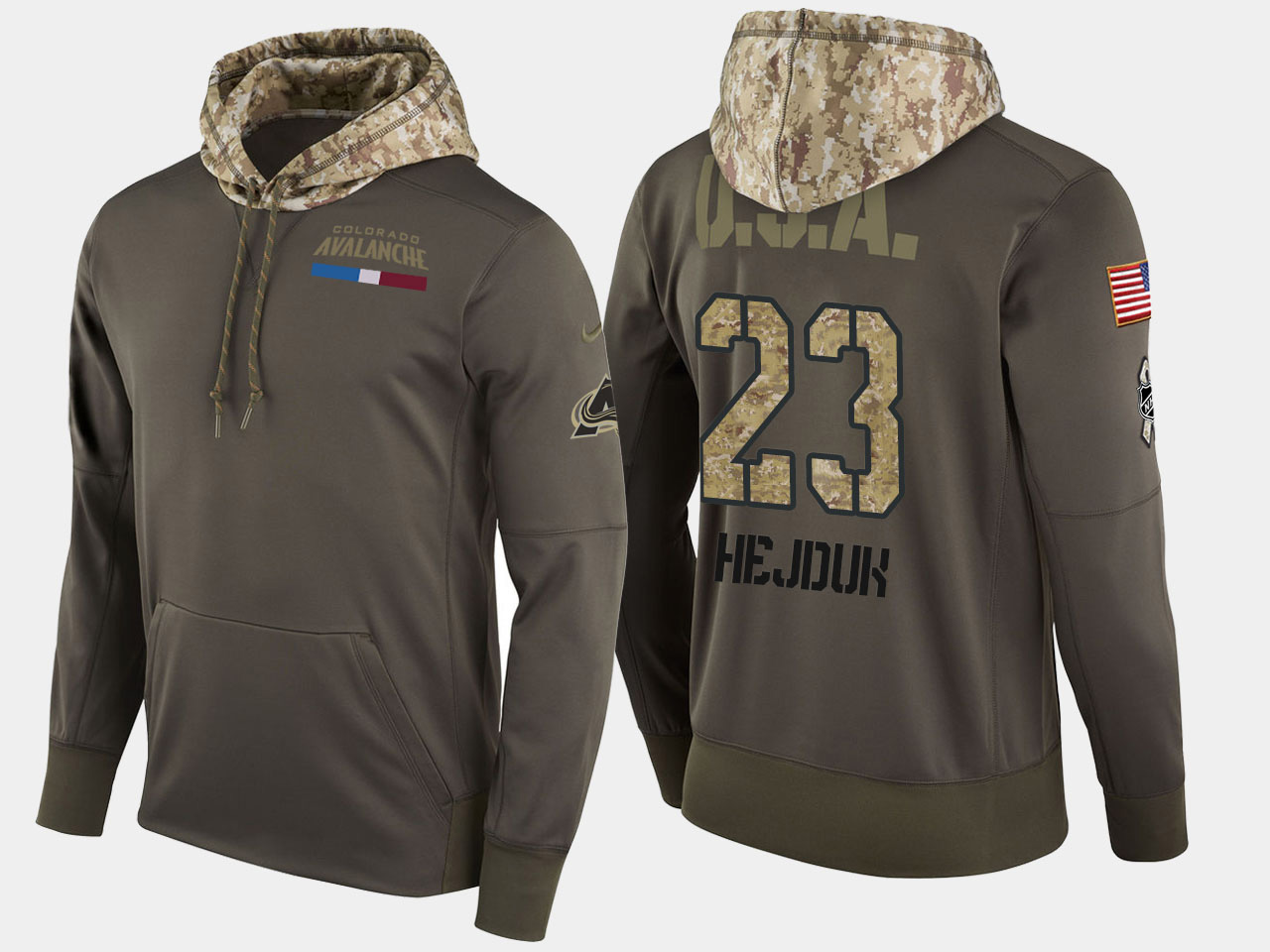 Nike Avalanche 23 Milan Bejduk Retired Olive Salute To Service Pullover Hoodie
