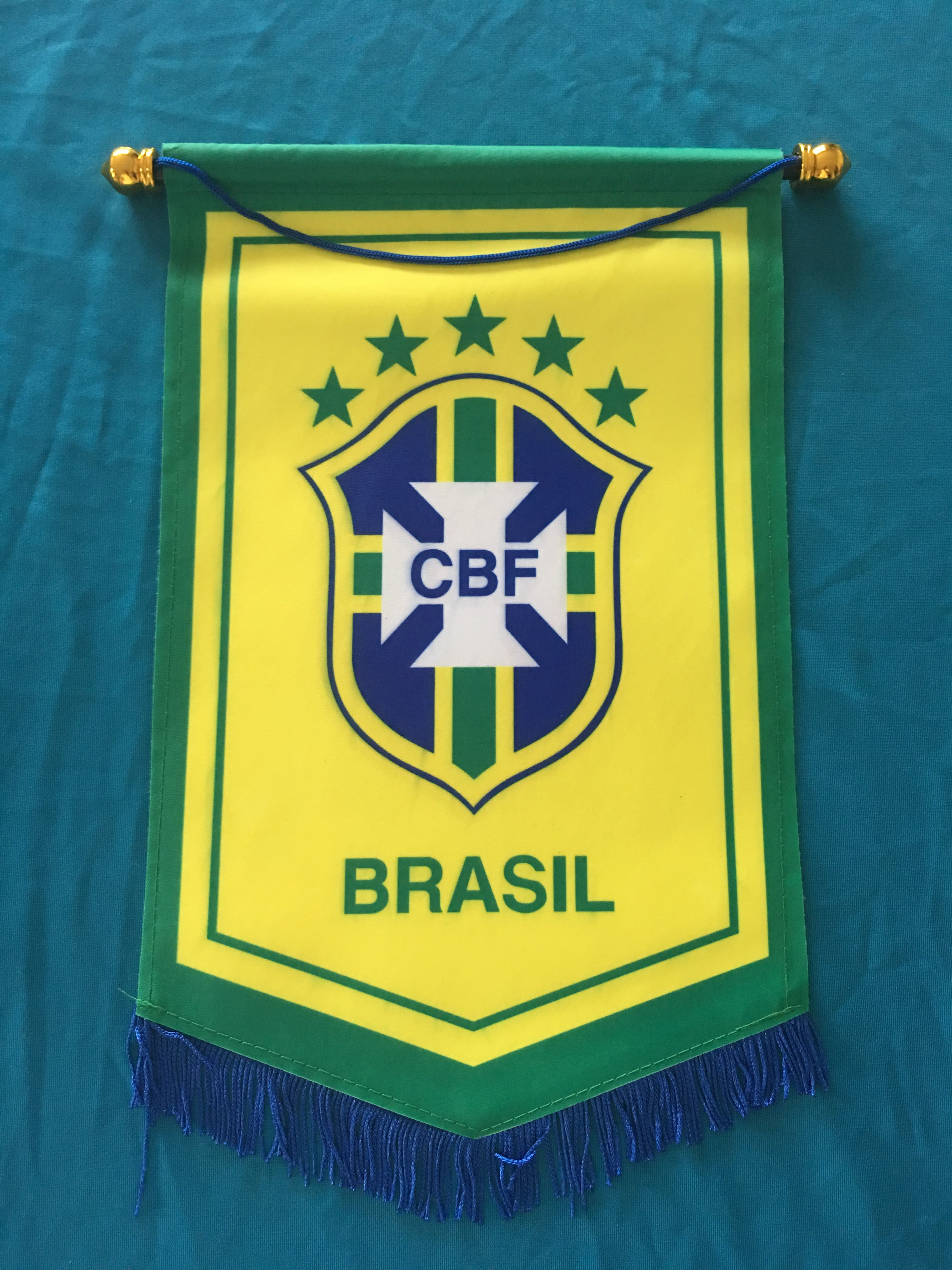 Brazil Hang Flag Decor Football Fans Souvenir