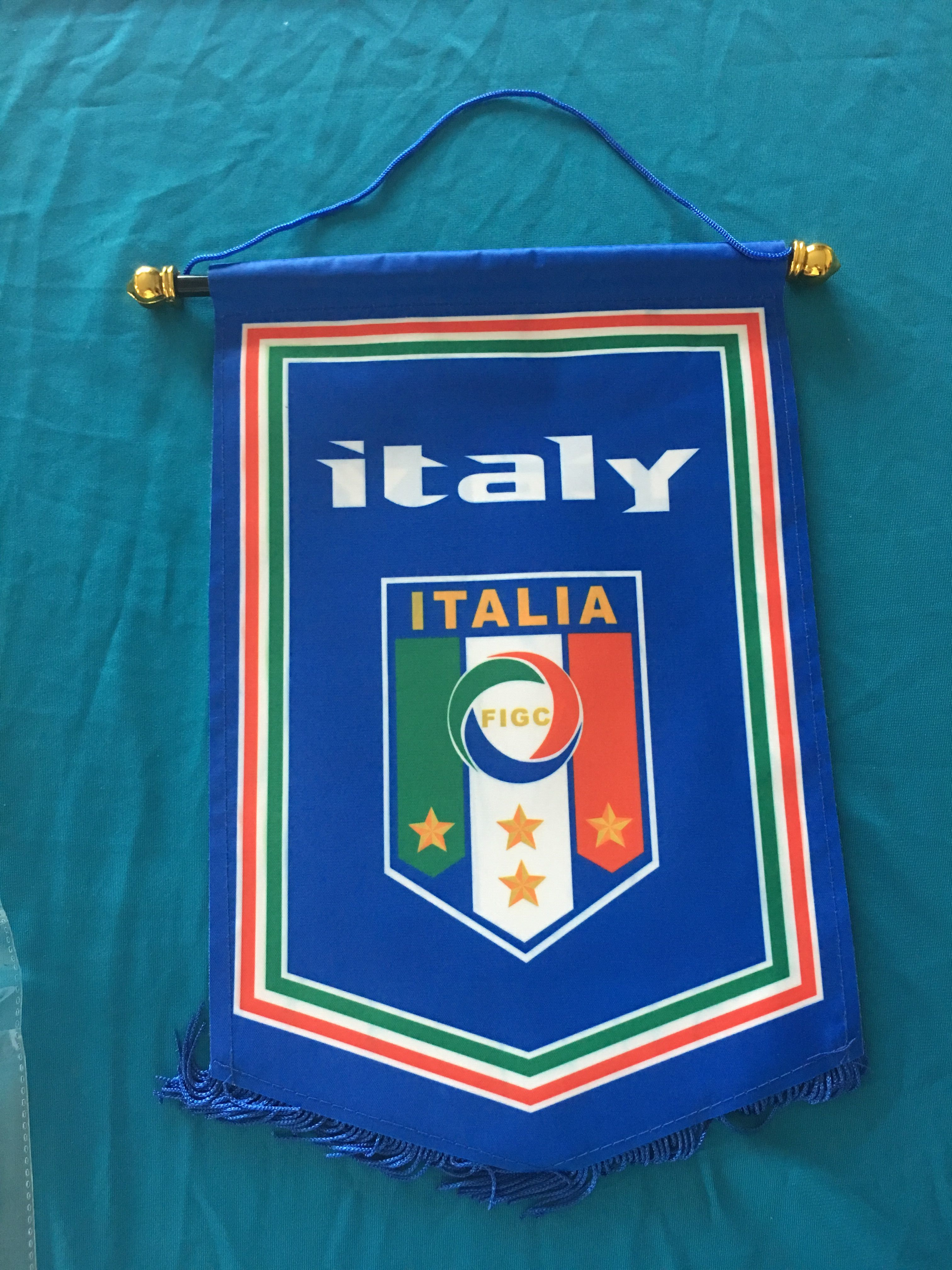 Italy Hang Flag Decor Football Fans Souvenir