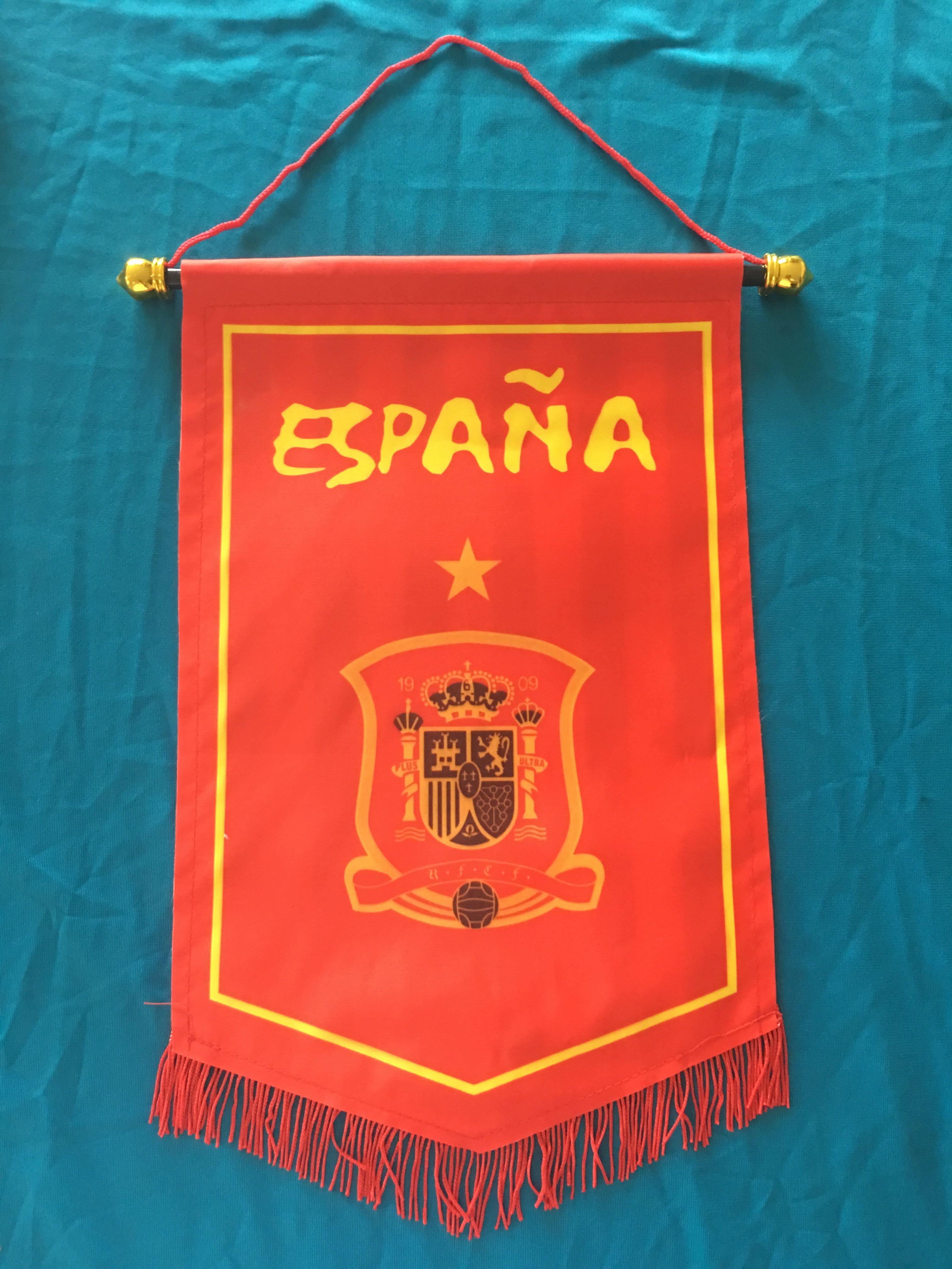Spain Hang Flag Decor Football Fans Souvenir
