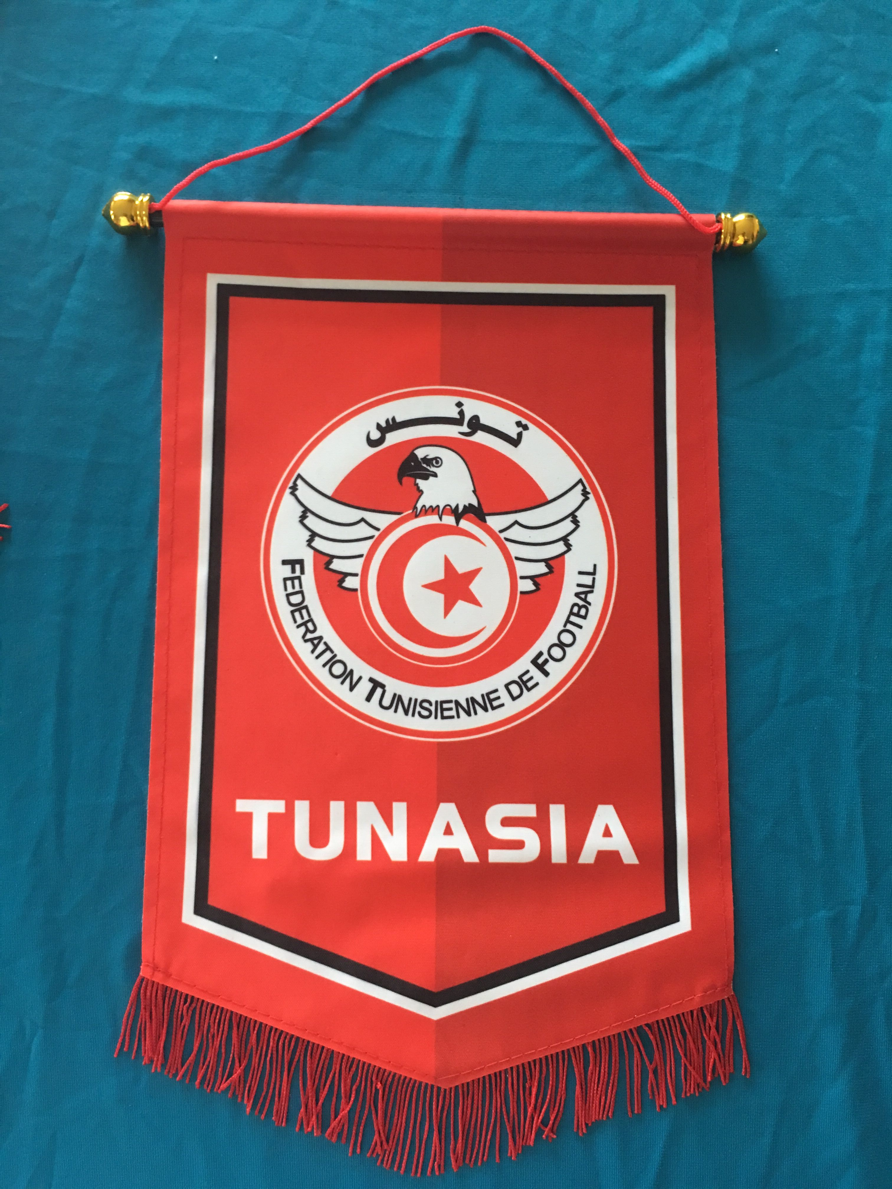 Tunisia Hang Flag Decor Football Fans Souvenir