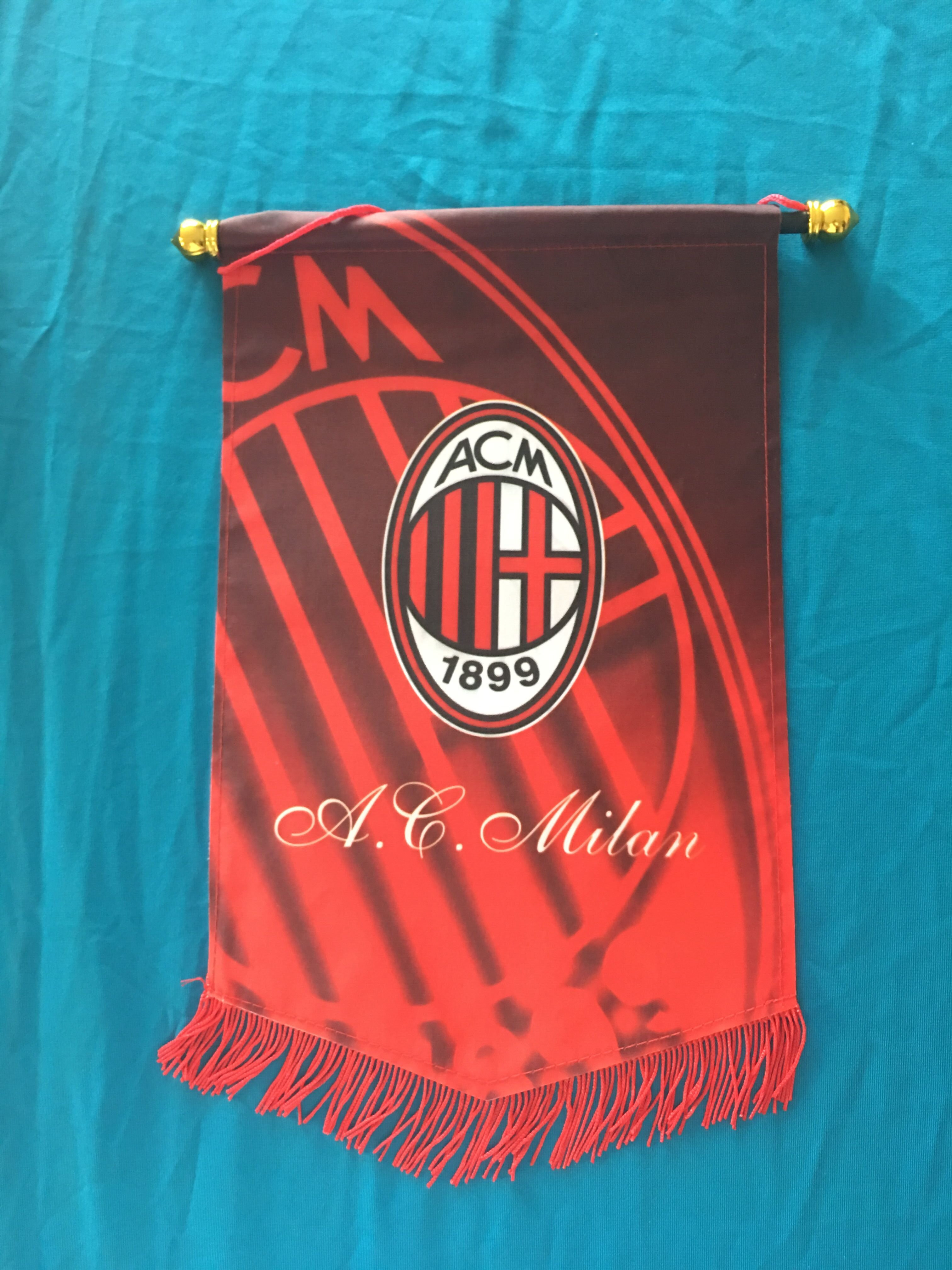 AC Milan Hang Flag Decor Football Fans Souvenir